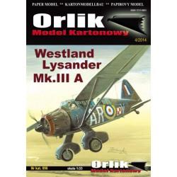Westland Lysander Mk.IIIA, ORLIK, 1:33
