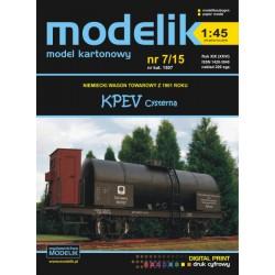 KPEV tank car 1:45, MODELIK,