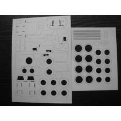 PANHARD VBL, MODELIK, 1:25, laser frames