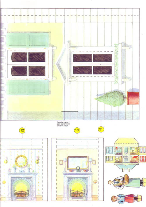 Construye esta casa de mu ecas papel3d - Casa de munecas ...