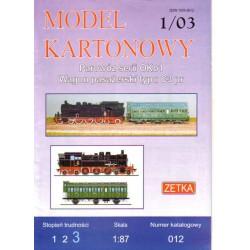 Locomotora serie OKo1 con vagón tipo C3pr