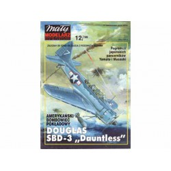 "DOUGLAS SBD-3 ""Dauntless"", 1:33. Maqueta recortable."
