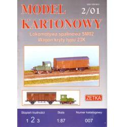 Locomotora SM02 con vagón 23K