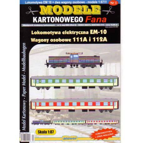 Locomotora EM-10 con vagón 111A, 112A