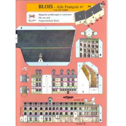 Blois, Ala FranÇois 1º, Tarjetas Pre-recortadas.