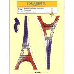 Torre Eiffel, Tarjetas Pre-recortadas