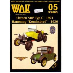 "Citroen 5HP Typ C-1921; Hanomag ""Komissbrot"" 1926"