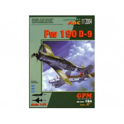 FW 190 D-9, 1:33. Maqueta recortable
