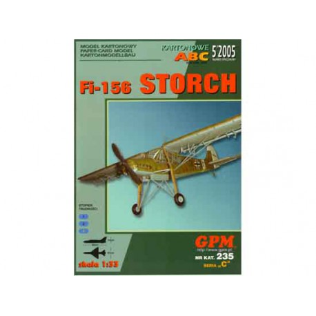 Fi-156 STORCH, 1:33, maqueta recortable