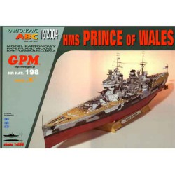 HMS Prince of Wales, 1:200. Maqueta recortable.