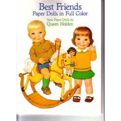 Best Friends, muñecas recortables a todo color. Queen Holden