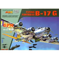 FLYING FORTRESS B-17 G, 1:33. Maqueta recortable