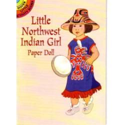Niña India del noroeste, Muñeca para recortar y vestir. Allert