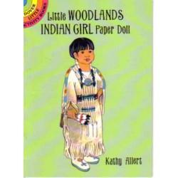 Niña India de los bosques, Muñeca para recortar y vestir. Allert