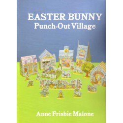 Easter Bunny, Pueblecito precortado. Anne Frisbie Malone