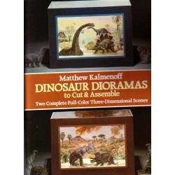 Dioramas de dinosaurios. Dos escenas tridimensionales completas.
