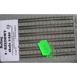 Barandilla GPM precortada en cartón 2 filas 1:250