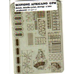 SCIPIONE AFRICANO, Set de accesorios en fotograbado cartón, 1:20