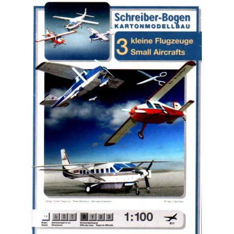 3 aviones pequeños, 1:100
