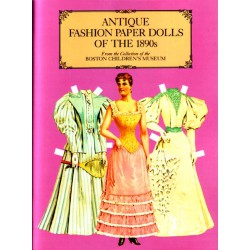 Antique fashion paper dolls of the 1890s.