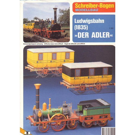 "Ludwigsbahn, 1835, ""Der Adler"", 1:20"