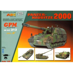 PANZER-HAUBITZE 2000, A3, 1:25. Maqueta recortable.