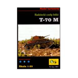 Carro de combate T-70 M, 1:25