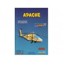 APACHE, 1:48, Maqueta recortable