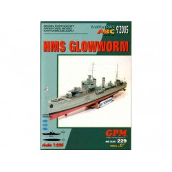 HMS Glowworm, 1:200. Maqueta recortable