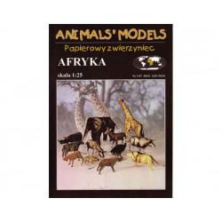Maquetas Recortables: Animales de África, 1:25