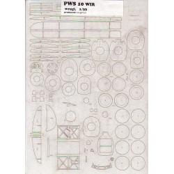 PWS 10 WIR, Laser frames, 1:33, KEL