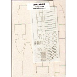 Bojarin, Laser frames, 1:200