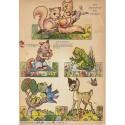 """Láminas antiguas para recortar, """"Mis amiguitos del bosque""""."""
