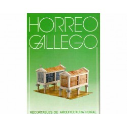 Horreo Gallego, recortables de arquitectura rural