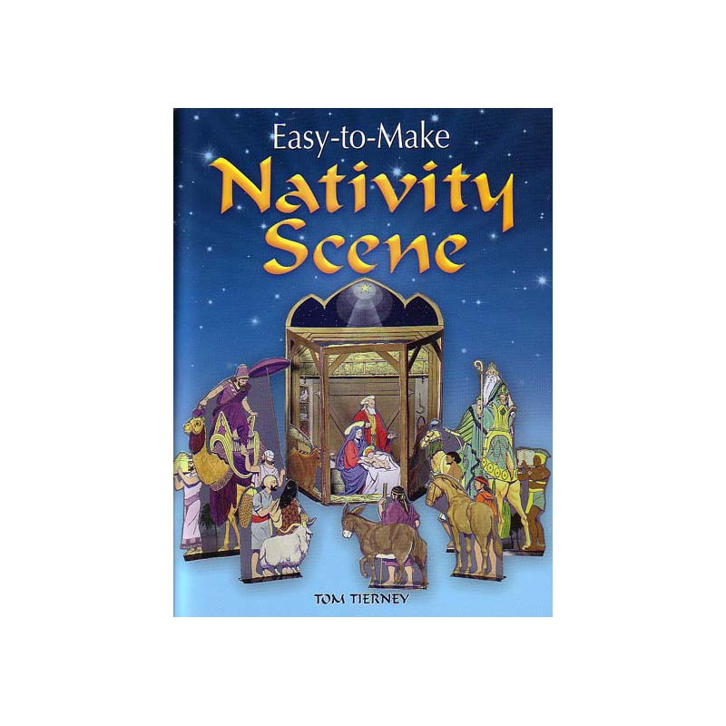 Nativity Scene Easy To Make Tom Tierney Papel3d