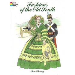 Fashions of the Old South, Tom Tierney. Para colorear