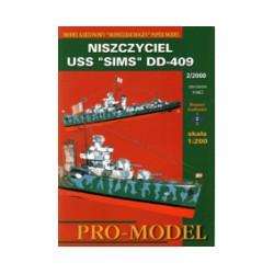 "USS ""SIMS"" DD-409"