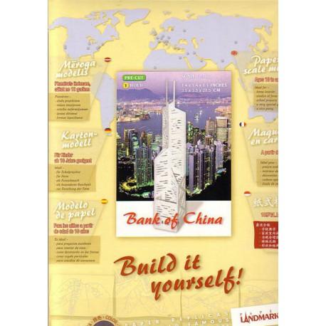 Banco de China, Paper Landmarks, AZUL-ACERO PRECORTADO