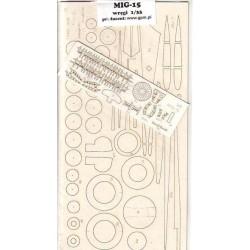 MIG-15 FAGOT, 1:33, HOBBY MODEL, laser frames