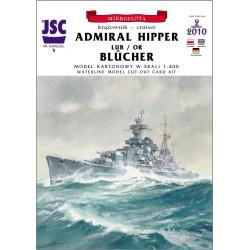 ADMIRAL HIPPER / BLUCHER. 1:400, JSC