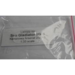 Sea Gladiator Mk II, 1:33; Halinski, Cabina de Plástico