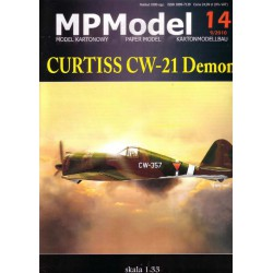 CURTISS CW-21 Demon, 1:33, MPMODEL