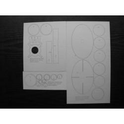 MERCURY-REDSTONE MR3, Laser frames, Modelik, 1:50.