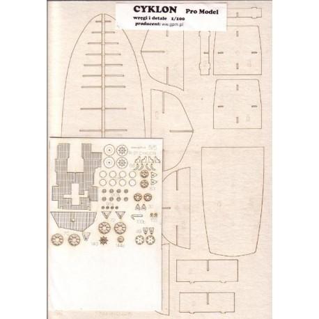 R-27 CYKLON, PROMODEL, 1:100, laser frames