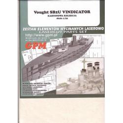 VOUGHT SB2U Vindicator, Kartonowa Kolekcia, 1:33, laser frames