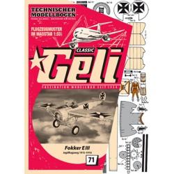 Fokker EIII, GELI, 1:33