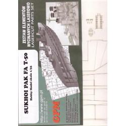 SUKHOI PAK FA T-50, 1:33, HobbyModel, Laser frames