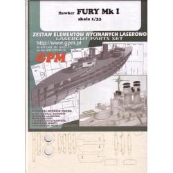 Hawker Fury, GPM, 1:33, Laser frames