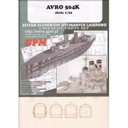 AVRO 504K, GPM, 1:33, Laser frames