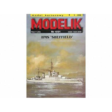 HMS SHEFFIELD, maqueta recortable